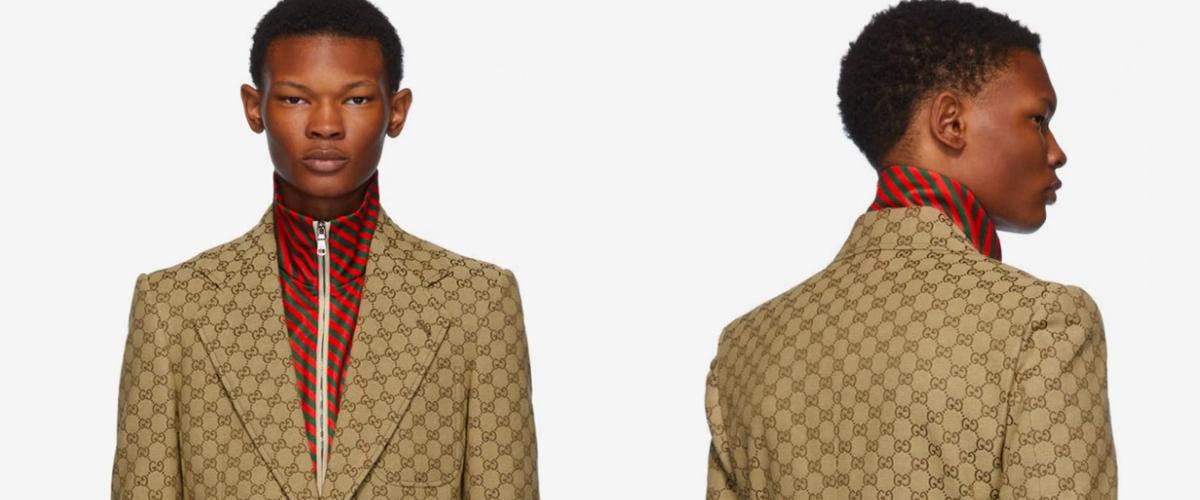 Gucci 推出 GG Logo 印花西服套装和棒球帽